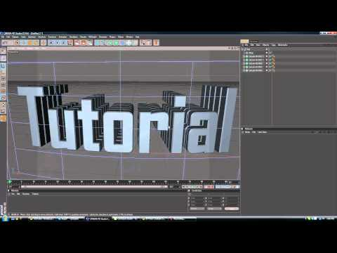 Cinema 4D Tutorials - Ep. 2 - How to make Multilayered text