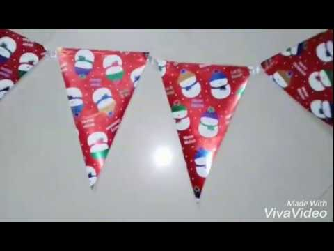 Easiest way to make a Paper Bunting | DIY Paper Bunting | Christmas Decor Ideas | Christmas Crafts |