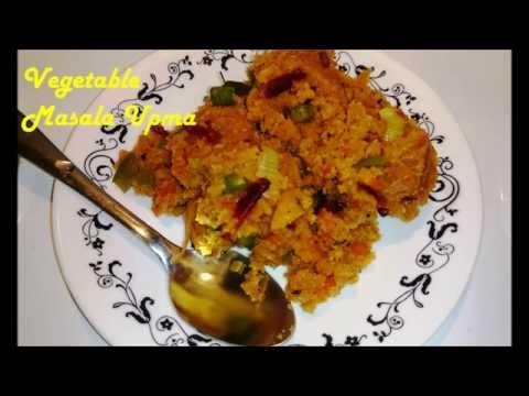 Easy Vegetable Masala Upma
