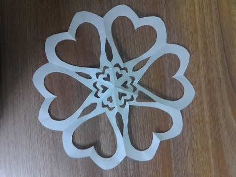 how to make a paper heart - paper cutting | Kirigami - by Dzung Mac