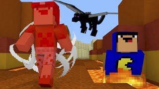 Minecraft: NOOBS FUGINDO DE UM DRAGÃO!