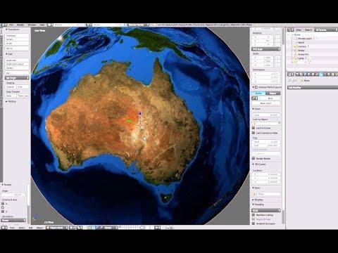 Create a 3d Earth Globe in Blender