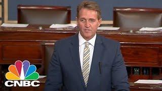 Senator Jeff Flake Delivers Searing Condemnation Of President Donald Trump
