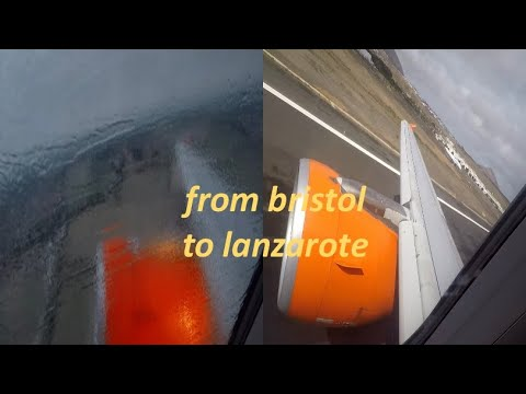 EasyJet Bristol to Lanzarote - Full Flight February 2017!