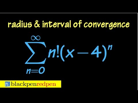 Radius and interval of convergence of a power series, using ratio test, ex#5