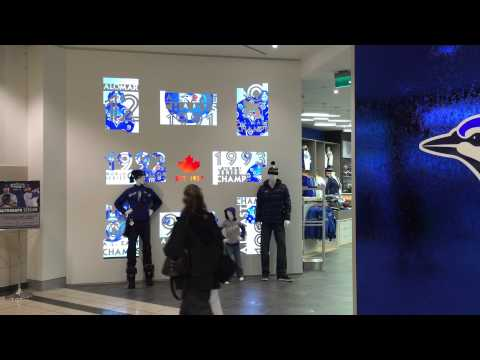 Blue Jays Store Video Wall