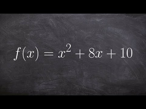 How to write an equation in vertex form and find the vertex