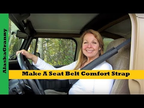 Make A Seat Belt Comfort Strap From Pipe Insulation