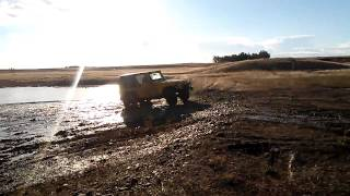 Eddie bauer explorer playing in the mud