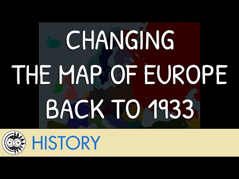 Changing the Map of Europe Back to 1933