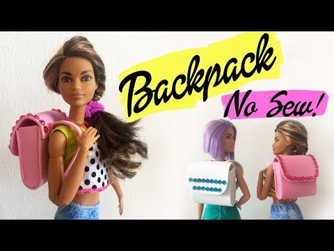How to make a Barbie Backpack Without Sewing! DIY