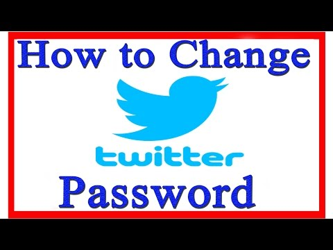 How To Change Your Password On Twitter 2015