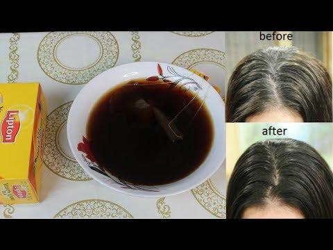 USE BLACK TEA TO DARKEN GREY HAIR WITHIN ONE MONTH