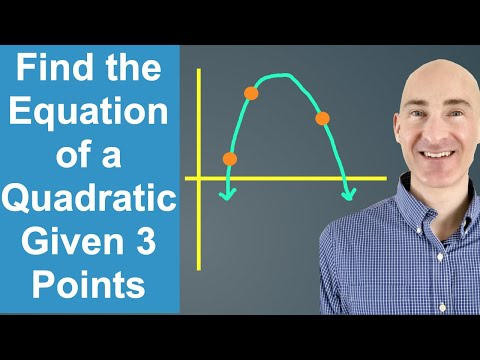 Find the Equation of a Quadratic (Parabola) Given 3 Points