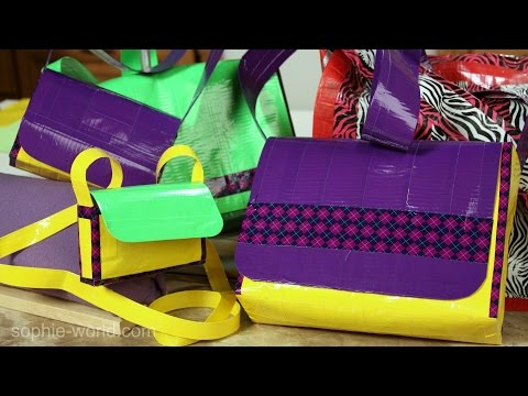 How to Make a Duct Tape Messenger Bag - Part 1 | Sophie's World