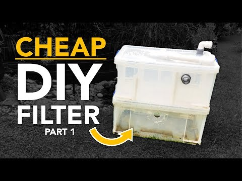 HOW TO: CHEAP DIY POND FILTER (Part 1/2 - Mechanical Filtration)