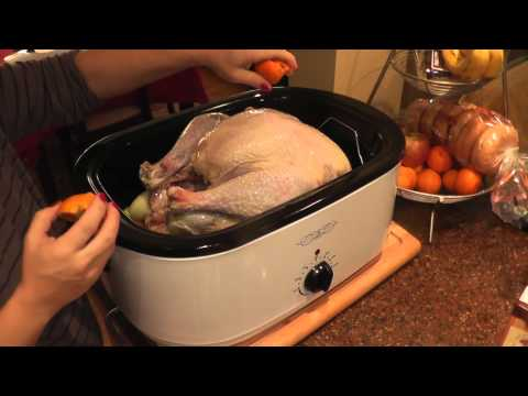 How I season and cook my turkey in an electric roaster