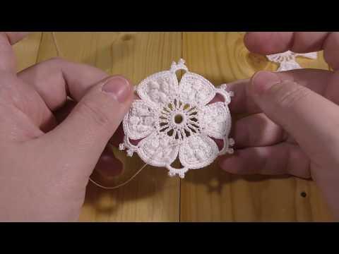 DMC Library Irish crochet lace Figure 20, Sixth wheel