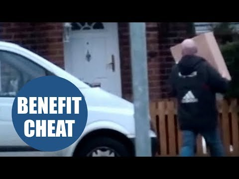 A man claiming more than £12,500 in disability benefits has been caught on camera
