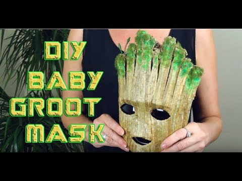 DIY Baby Groot Mask - WIN the Mask HALLOWEEN GIVEAWAY 2018!