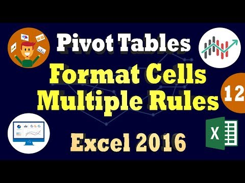 Excel 2016: Conditional Formatting Cells Using Data Bars - Controlling Multiple Rules in Pivottable