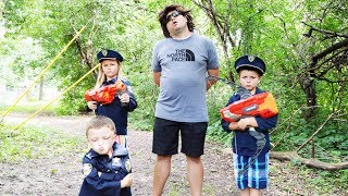 Sketchy Mechanic and the Kid Cops Featuring The Assistant a Silly Funny Kids YouTube video with Ryan