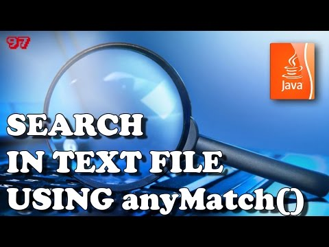 JAVA Search in text file