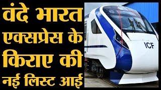 Vande Bharat express के किराए की ये लिस्ट Indian railway ने जारी की है | The Lallantop