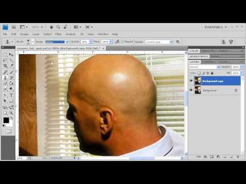 2.10 Removing Bald or Hot Spots: Adobe Photoshop CS4 video