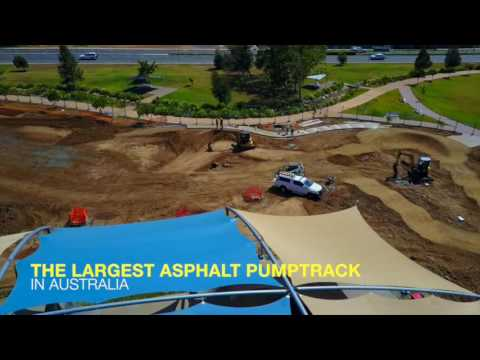 Opening December 18th 2016: Memorial Park - Australia's Largest Asphalt Pump Track