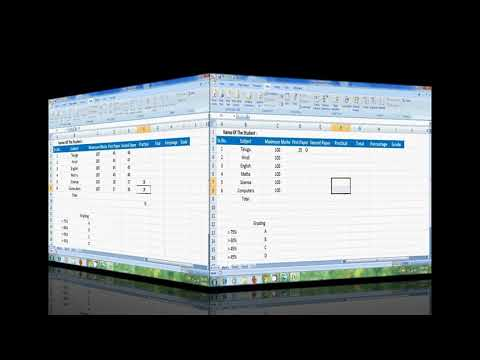 Excel 2007: how to prepare a result sheet in ms excel
