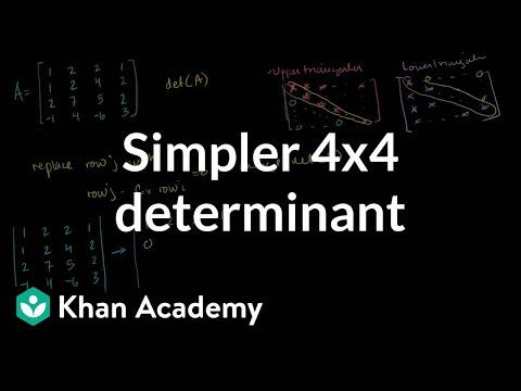 Simpler 4x4 determinant | Matrix transformations | Linear Algebra | Khan Academy