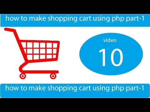 how to make shopping cart with cookies and mysql - part 1