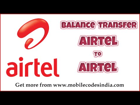 how to share balance on airtel