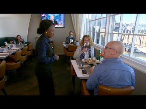 Inside United Airlines' secret restaurant at Newark airport