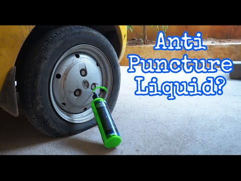 How to fill Anti Puncture Liquid and fix your Tyres!