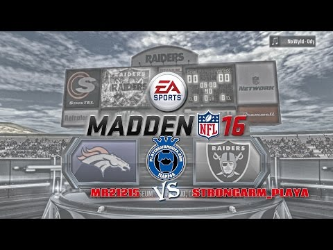 Madden NFL 16 Broncos VS Raiders AFC West Showdown!