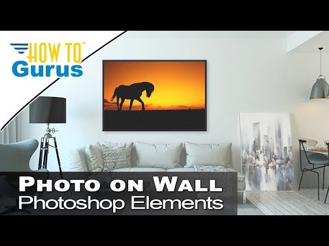 Photoshop Elements Overlays - Put a Framed Photo on a Wall 2018 15 14 13 12 Tutorial
