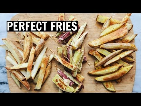HOW TO MAKE CRISPY LOW FAT FRIES + 3 FLAVOR IDEAS
