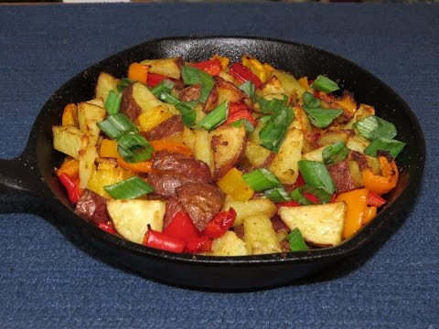 Best Ever Oven Fried Potatoes Cooked in the Toaster Oven~Easy Cooking
