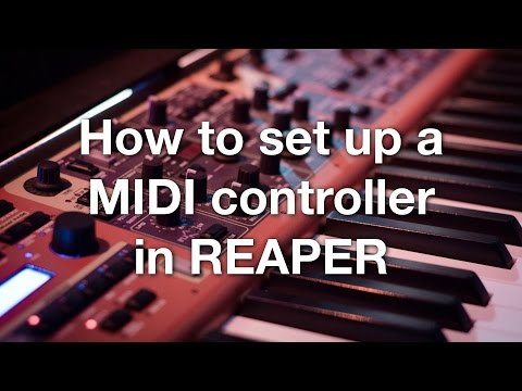 How to set up a MIDI controller in REAPER