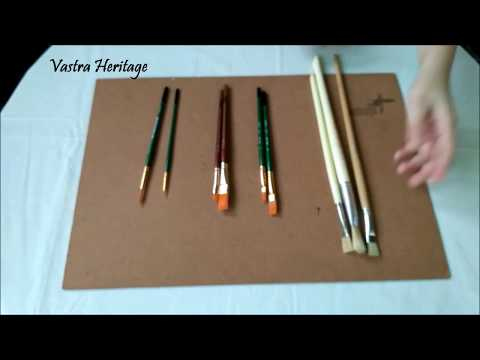 Must have brushes for FABRIC PAINTING