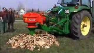 John Deere 8100 and Rotor S stump grinder