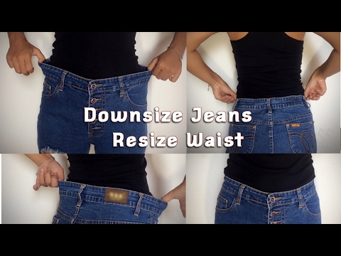 How To Downsize Jeans Resize Waist DIY -TGK/024