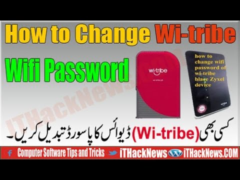 How to Change Your Password wifi any wi-tribe Device