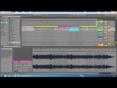 How to make a simple hip hop instrumental song using samples (Ableton Live 9 Tutorial)