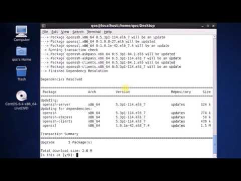 Step1 Fresh CentOS Configuration - Enable SSH (1/8)