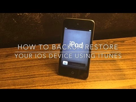 How to backup and restore your iPhone iPad or iPod Touch using iTunes