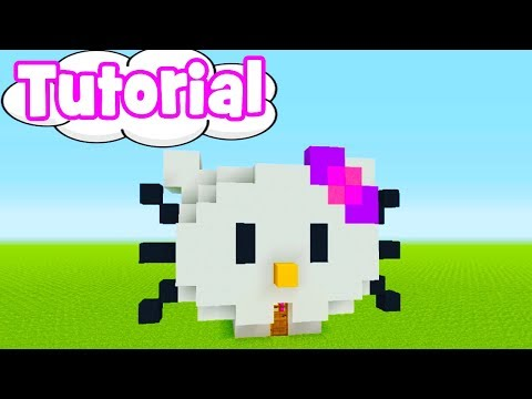 Minecraft Tutorial: How To Make A Hello Kitty House