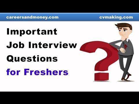 Important Job Interview Questions for Fresh Graduates